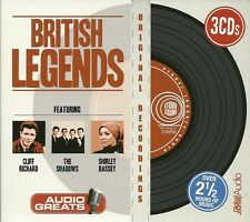 BRITISH LEGENDS - 3 CD BOX SET - CLIFF RICHARD * THE SHADOWS & SHIRLEY BASSEY