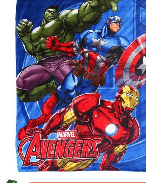 "Marvel Avengers Iron Man Thor Hulk  Micro Plush Soft Throw Blanket 46/"" x 60/'/'"