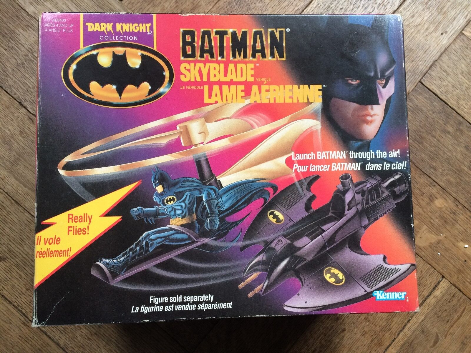 Bathomme Skyblade véhicule, Dark Knight Coll. 1991 En  parfait état, dans sa boîte, RARE, a été  Maintenant  direct usine