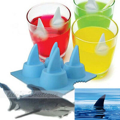 New 3D Passionate Shark Fin Ice Cream Pudding Jelly Candy  Mold Tray Cube  Mould