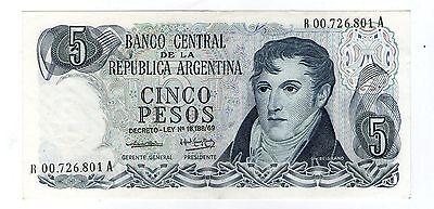 ARGENTINA 5 DECRETO LEY 1975 P 294 UNC