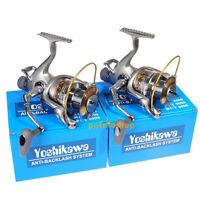 2x Spinning Reel 11 Bb Stainless Bearing Fishing Saltwater Baitfeeder 5000 5.5:1