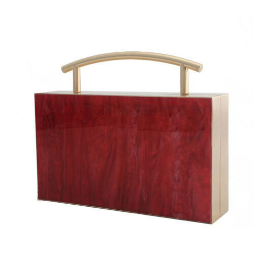 Acrylic Clutches Women Purse Shoulder /& Handbags Evening Bags Clutch Wallet Pink
