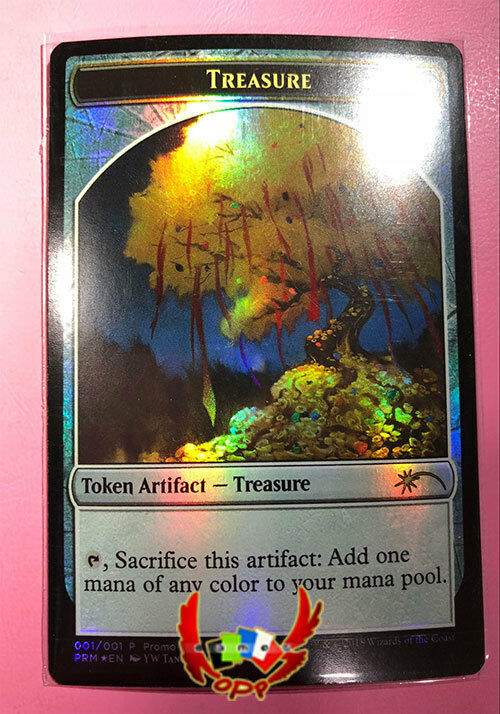 MTG PROMO FOIL 2018 LUNAR NEW YEAR MONEY TREE TREASURE TOKEN X1 MINT CARD