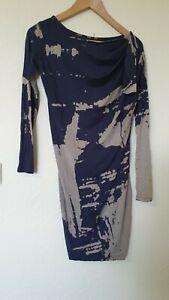Religion-Tie-Dye-blanqueado-Efecto-Vestido-Talla-XS-8-10