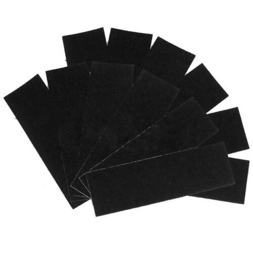12x Black Foam Grip Tape Self-adhesive Stickers 110x35mm for Wooden Fingerboard