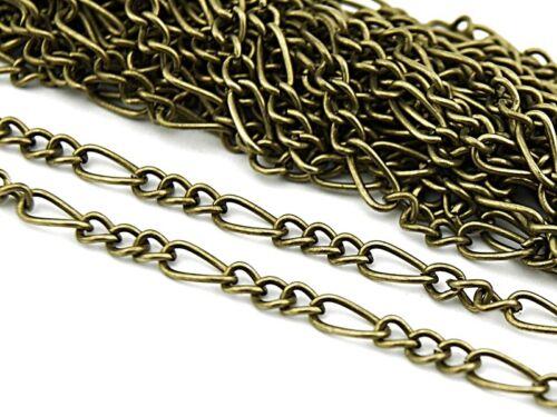 0,90 EUR pro m 2 m cadena Antik bronce con largas extremidades
