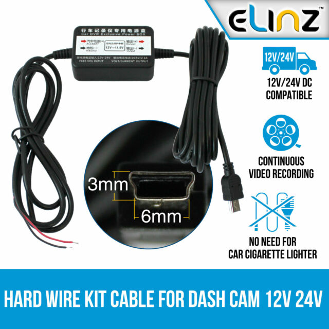 Hard Wire Kit Charger Car Dash Cam Parking Power Battery Drain Protected Elinz