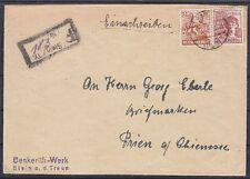 Alliierte Besetzung Mi Nr 951, A 956 MiF Brief Not R- Stempel Stein - Priem 1948