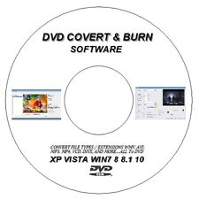 CONVERT BURN RIP ANY MPEG, DIVX, MP4, AVI, WMV TO DVD for WINDOWS XP 7 8 8.1 10