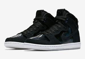 pas cher 2015 Nike Dunk Le Zoom Sb Hommes Haut Chaussure De Skate Blanc Clair Pro Noir / Noir 7 Hommes Nous expédition faible sortie escompte combien LKtEdpm
