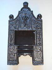 18th Century Miniature Cast Iron Fireplace with Masonic Symbols