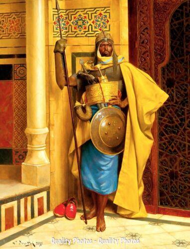 "Nubian Palace Guard 8.5x11/"" Photo Print Ludwig Deutsch Orientalism Painting Art"