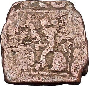 AZILISES-85BC-INDO-SKYTHIAN-King-Horse-Hercules-Ancient-Greek-Coin-India-i47068