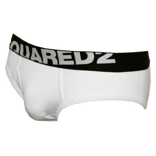 White DSquared2 2-Pack Angled Logo Low-Rise Men/'s Briefs