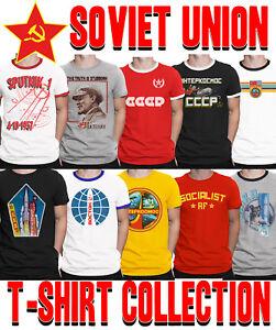 Mens-SOVIET-UNION-T-Shirt-Choice-of-SPACE-Program-Communism-CCCP-USSR-Socialism