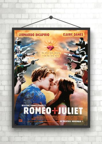 Romeo /& Juliet Leonardo DiCaprio Classic Large Movie Poster Print