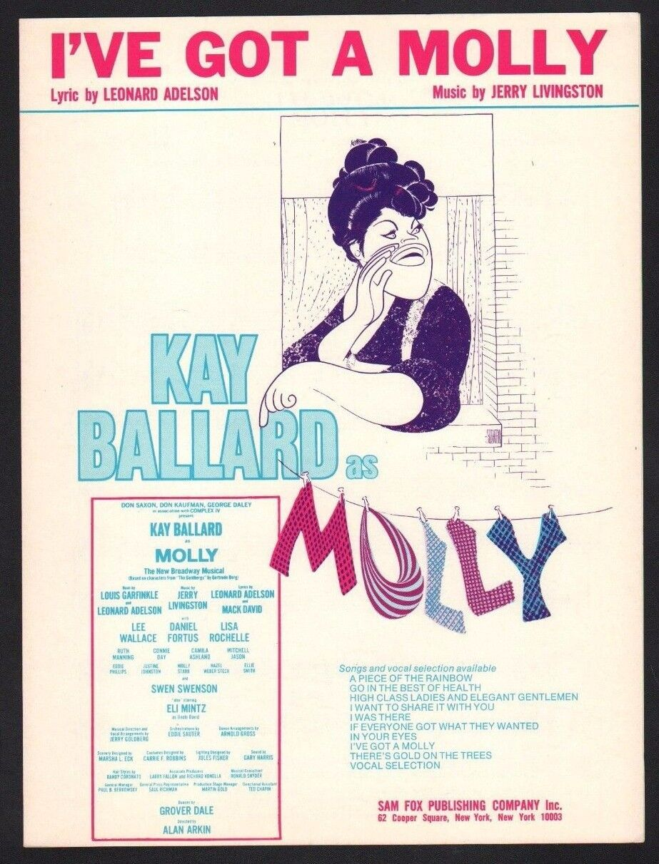 Tengo un Molly 1974 Kay Ballard Ballard Ballard Molly Partituras 52e935