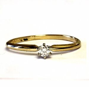 10k-yellow-gold-10ct-SI2-H-round-diamond-solitaire-engagement-ring-1-1g-estate