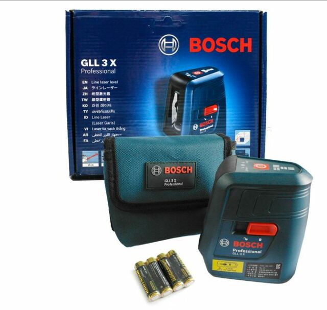 Genuine BOSCH Professional GLL3X Self Level Cross Line Laser GLL 3X