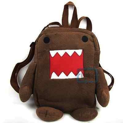Domo Kun Stuffed Cartoon Brown Cute Women Travel Bag Backpack Schoolbag Bookbag