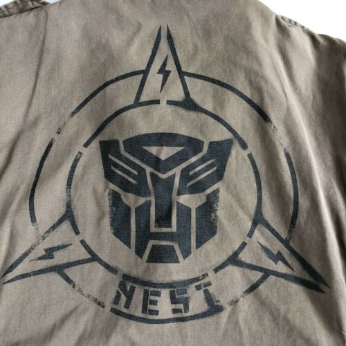 Nouveau Universal Studios Transformers Noir Autobots logo shiny silver ring sz 9//11