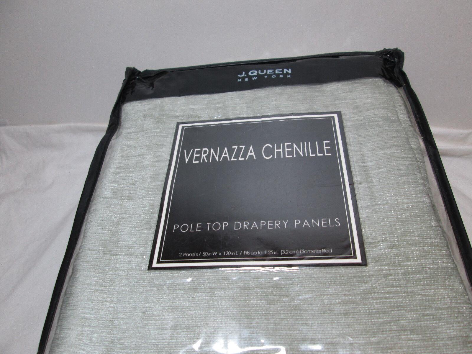 Polo J Queen Vernazza Chenille Nuevo Top Paneles de cortinas Two-50 x120   Aqua Nuevo