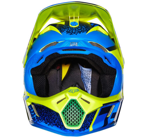 Youth Fox V3 Division Motocross Mx Helm Reithelme & -schutzkleidung Blau/Grün Kinder Quad Bmx Mips
