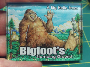 Bigfoot-Acrylic-Magnet-A-Big-Hello-From-Bigfoot-039-s-Stomping-Ground-Made-in-USA