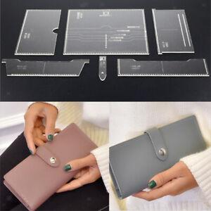 6pcs-in-pelle-artigianale-acrilico-portafogli-borsa-modello-stencil-modello