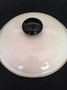 White-Enamel-Pan-Pot-Lid-8-034-Replacement-Top