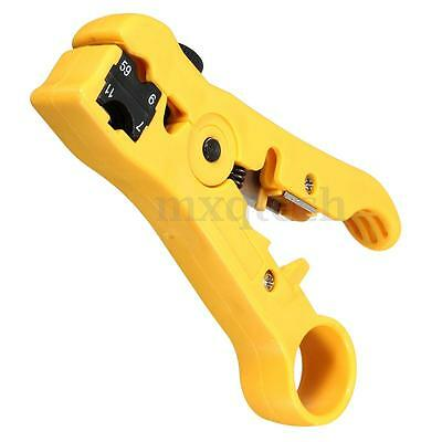 Rotary Coax Coaxial Cable Cutter Wire Stripper Stripping For RG6/RG59/RG7/RG11