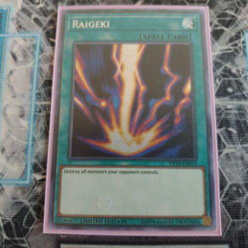 NM Prismatic Secret Rare Limited TN19-EN010 Yugioh: Raigeki