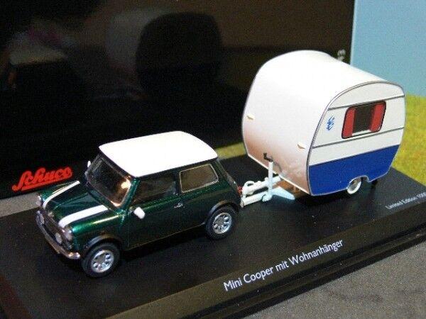 1 43 Schuco Mini Cooper con Cocheavana Knaus schwalbennest 45 024 1500