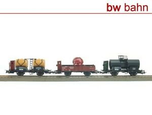 Sachsenmodelle-H0-14111-Gueterwagen-Set-Wuerttemberg-Fasswagen-Kesselwagen-Neu
