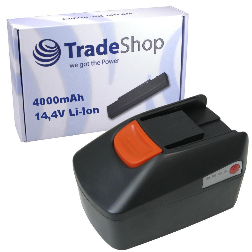 Trade-Shop AKKU 14,4V 4000mAh Li-Ion ersetzt Fein B14A.164.01, 92604164020