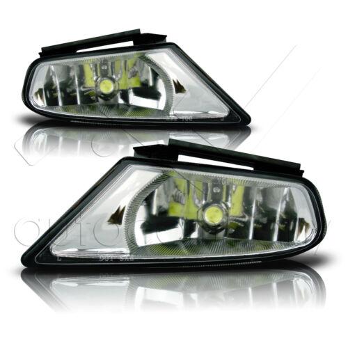 Clear Fit 05-07 Honda Odyssey Fog Lights w//Wiring Kit Harness /& COB Bulbs