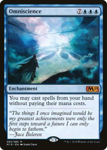 ***Omniscience*** MINT Core Set Magic 2019 M19 MTG EDH Magic Cards