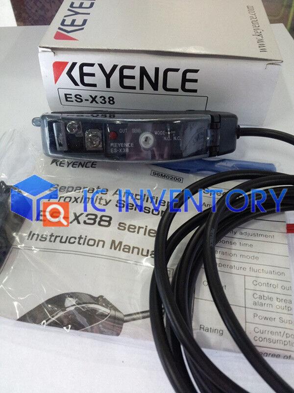 New in box KEYENCE Photoelectric Sensor Amplifier ES-X38 ESX38