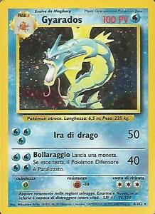 POKEMON-Gyarados-6-102-Holo-Unlimited-Set-Base-ITALIANO