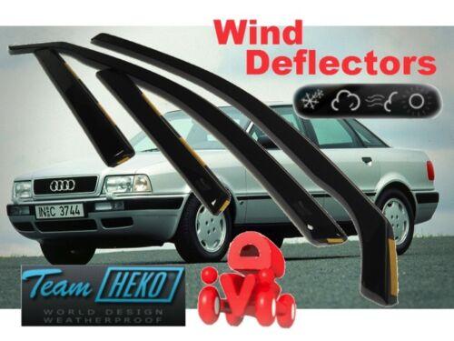 Wind deflectors AUDI 80 B3 B4  1986-1995  4.pc  HEKO 10222