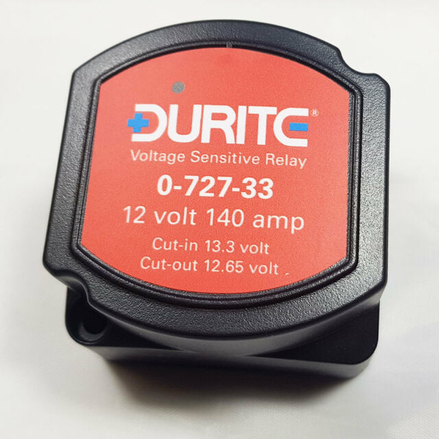 0-727-33 DURITE SPLIT CHARGE RELAY 12V 140A 140 AMP VOLTAGE SENSITIVE - CAMPERS