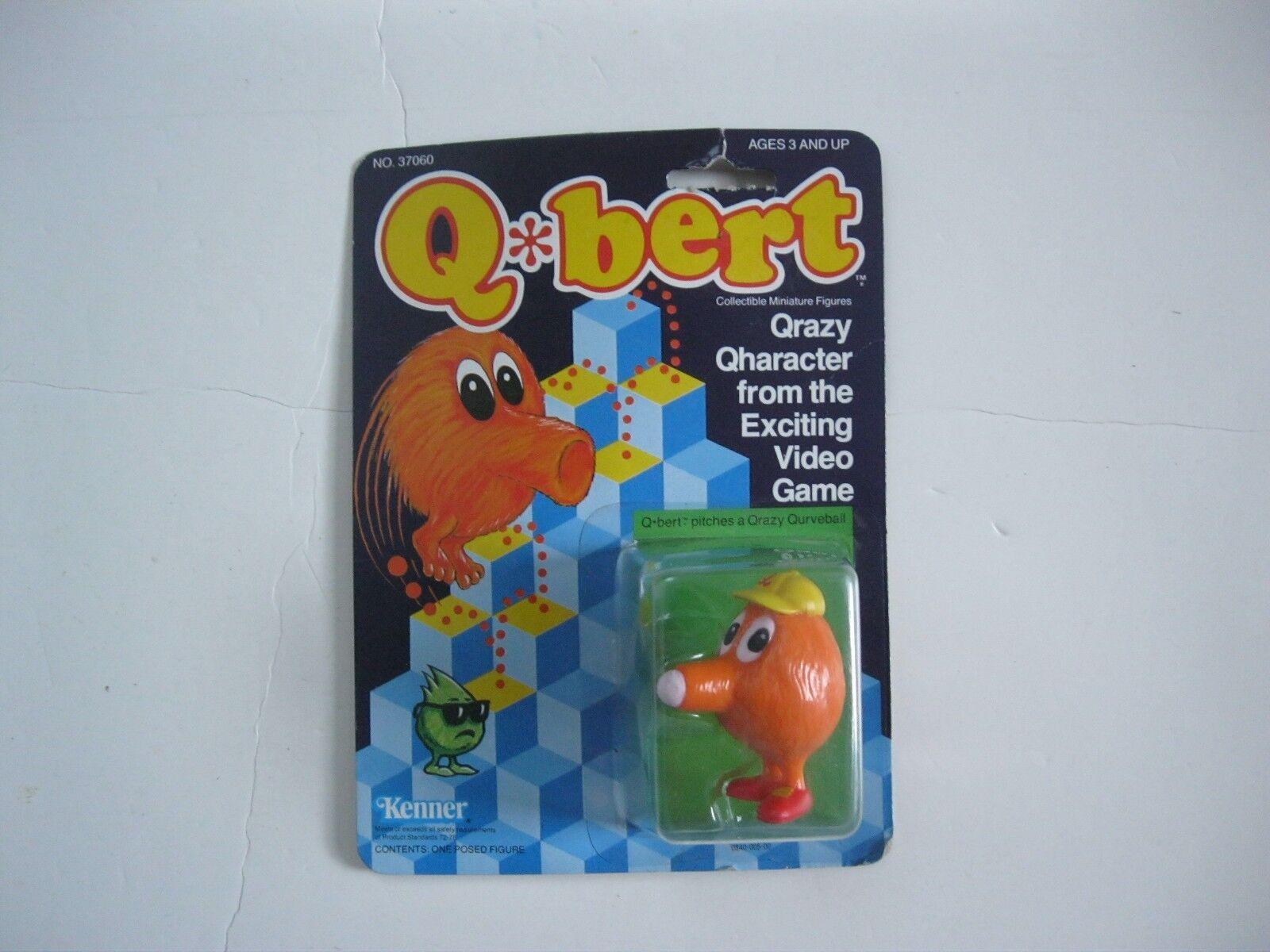 1983 vintage - kenner gottlieb qbert q-bert qrazy qurveball abbildung figur versiegelt