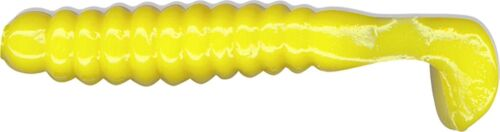 """Charlie Brewer/'s 1.5/"""" Crappie Grubs CSG14 20 Pack Yellow Fishing Lure"""