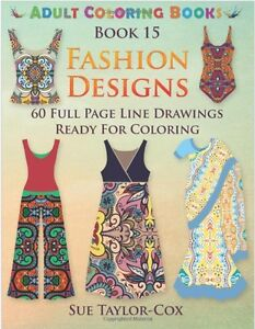 Image Is Loading Fashion Designer Adult Colouring Book Creative Designs Art