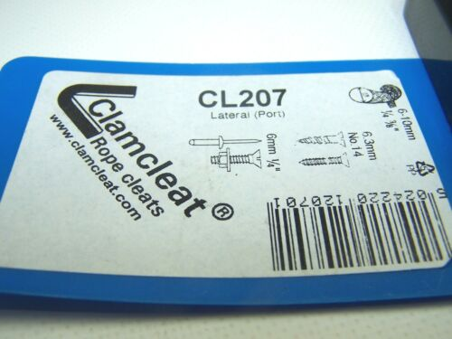 Clamcleat CL207 Port Lateral Cleat Black Nylon For 6-10mm Rope