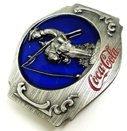 Coca Cola Belt Buckle Young Boy /& Dog Fishing Officially Licensed Siskiyou