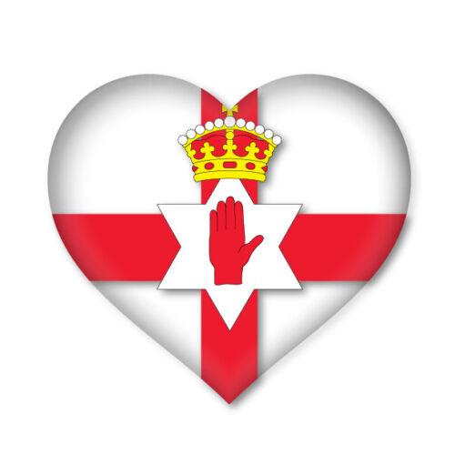 2 x ULSTER HEART Flag car van decal sticker