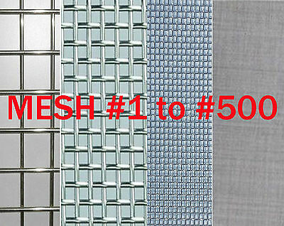 """T304 Stainless Steel Coarse Dense Gauze Woven Mesh #5 to #500,width 3"""" to 20"""" VA"""