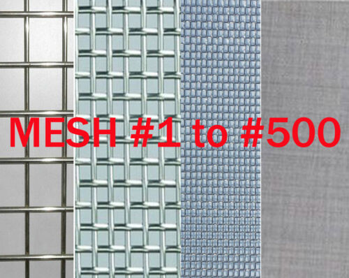 "T304 Stainless Steel Coarse Dense Gauze Woven Mesh #5 to #500,width 3/"" to 20/"" VA"